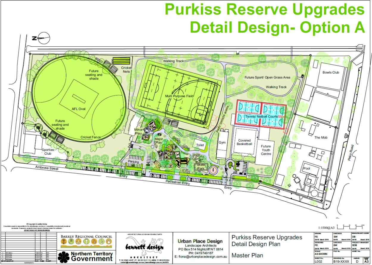 Purkiss Reserve Upgrade Design Options   Barkly Regional Council